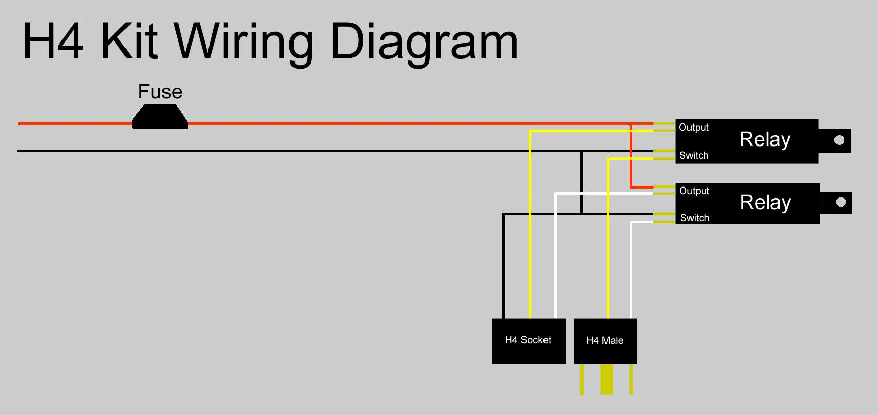H4kitwiringdiagram installation 2000 impala headlight plug wiring diagram at gsmx.co